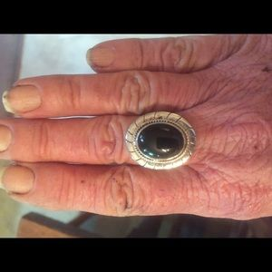 Jewelry - Sterling Silver and Black Onyx Ring Size 6.5